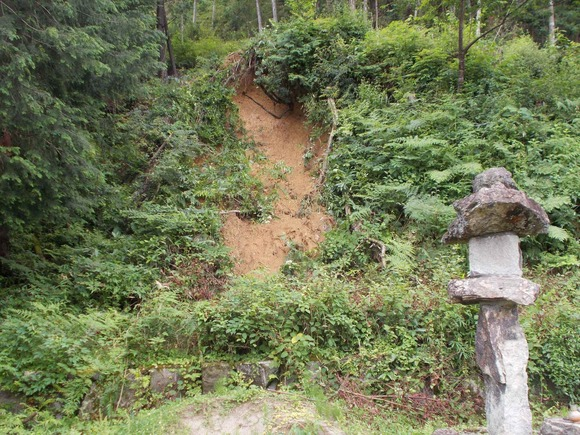 斜面が小規模に崩れたというところが5カ所ほどありました