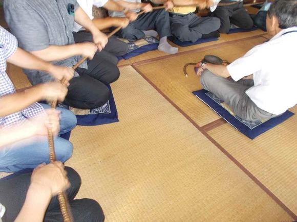 7月28日に行われた小原大日堂での大数珠繰り