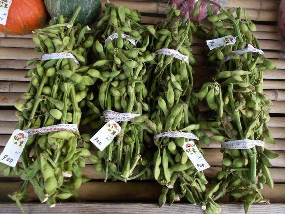 なかの里で売られている枝豆