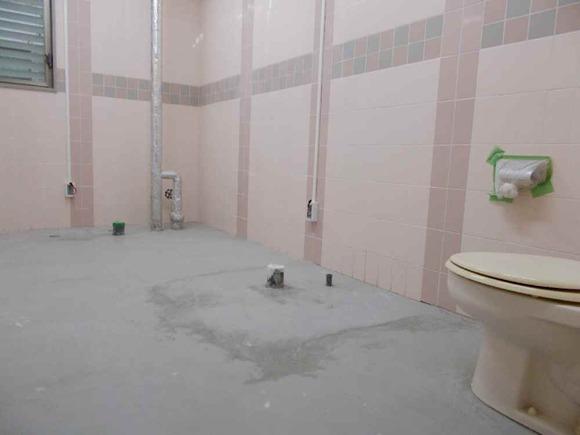 女子トイレ。当然のように全部洋式化されます。