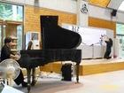 ピアノと書のコラボレーションイベント