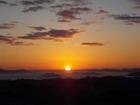 八ケ尾山で日の出を