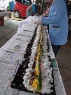 5mの巻き寿司づくり-朝市「なかの里」