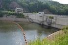 みくまりダム水位低下(16.4%)